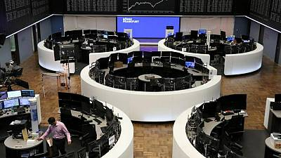 Stocks near record high after ECB talks of 'forceful' support