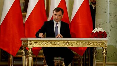 Polish justice minister says Warsaw cannot comply with EU's court ruling