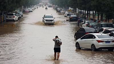 Disaster recovery in rain-lashed central China shifts up a gear