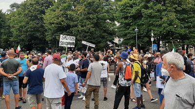 Protesta a Voghera: 'Vogliamo giustizia'