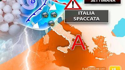 ILMeteo.it,forti temporali al Nord, super caldo al Centro-Sud