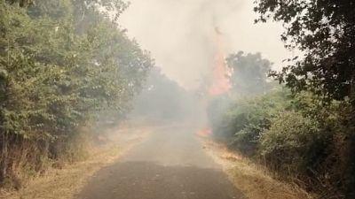 Incendio anche a Cabras, abitazioni lambite dal fuoco