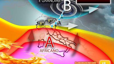 Team www.iLMeteo.it, attesi picchi oltre 45 gradi specie al Sud