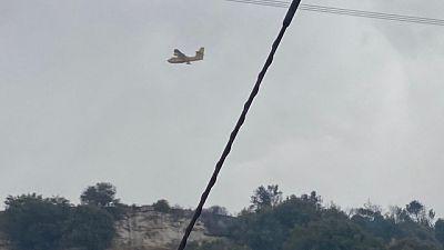 Preoccupa nuovamente il fronte del fuoco a Santu Lussurgiu