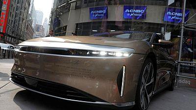 EV maker Lucid rises in Nasdaq debut after merger with Klein-backed SPAC