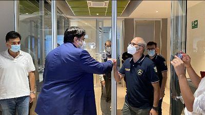 Il capo della Protezione civile arrivato a Cagliari