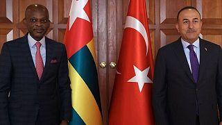 Réunion du ministre des Affaires étrangères Mevlüt Çavu?o?lu avec le ministre des Affaires étrangères du Togo Robert Dussey, 26 juillet 2021