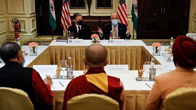 Risking China's anger, Blinken meets representative of Dalai Lama in India