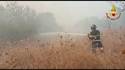 Scoppia un vasto incendio anche a Sagama