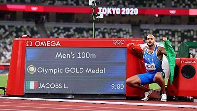 Italiano Jacobs da el golpe y se lleva el oro en final de los 100 mts planos, favoritos decepcionan