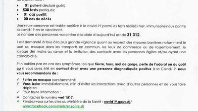 Coronavirus - Djibouti : Point de Presse sur la Situation COVID-19 le 2 août 2021