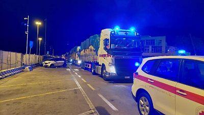 Convoglio di 15 tir sbarcato a Olbia diretto in quattro Comuni