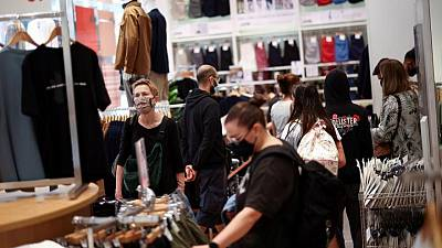 UK shopper numbers improve in August, narrowing gap on pre-pandemic level