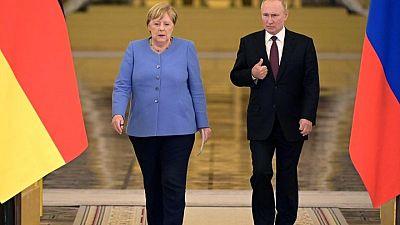 Merkel insta a Putin a liberar a Navalny y a ampliar el acuerdo de gas con Ucrania