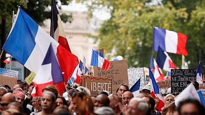 Protesters in France demonstrate against COVID pass for sixth weekend
