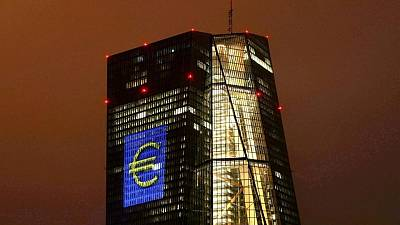 Euro zone bond yields slip, stocks and euro rise as ECB slows support
