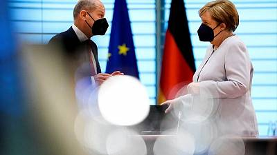 Merkel takes aim at SPD's Scholz over far-left coalition option