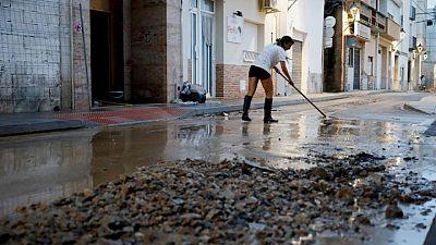 Temporal de lluvias en España deja inundaciones, cortes de electricidad y de servicios ferroviarios