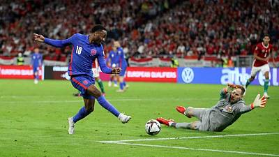 Soccer-Slick England cruise to 4-0 win in Hungary