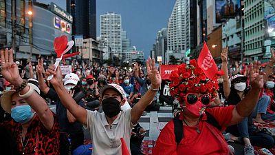 Thousands join protest in Bangkok demanding prime minister's resignation