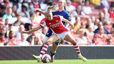 Soccer-Arsenal edge out Chelsea in WSL thriller, Brighton ease past West Ham