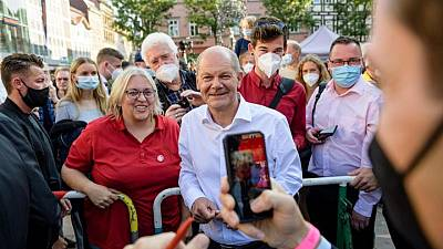 Boosted by surge in polls, Germany's Scholz bets on coalition with the Greens