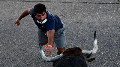 Spanish village hosts first bull running fiesta since pandemic