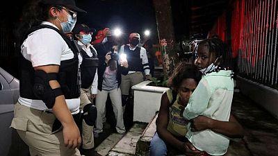 Mexican officials cut off new migrant caravan, breaking up main group
