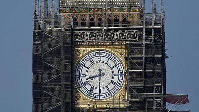UK's Big Ben tower gets the blues as clock hands return