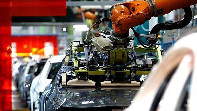German factory output rebound suggests bottlenecks easing