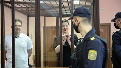 Britain says jailing of Belarus protest leaders shows Lukashenko's pariah status