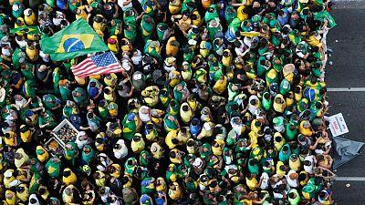 Brazil's Bolsonaro slams Supreme Court, calls election a 'farce' as supporters rally