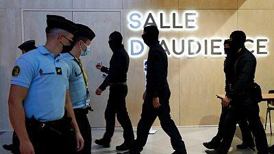Suspects arriving in Paris courtroom ahead of jihadist attacks trial