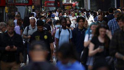 Britain records 30,825 new COVID cases on Monday