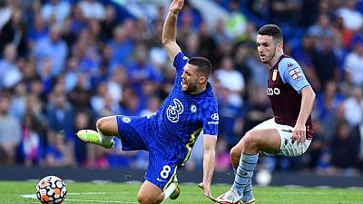 Soccer-Chelsea trying to identify fan who aimed sectarian abuse at Villa's McGinn