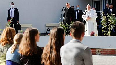 Pope honors Slovak Holocaust victims on site of demolished synagogue