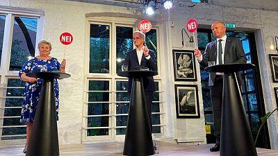 Norway's leftist opposition set for landslide win, complex talks