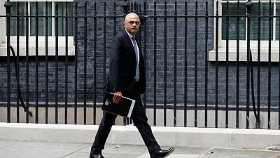 UK's Javid says inflation jump is likely temporary