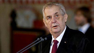 Czech president Zeman taken to hospital, waves to camera - media