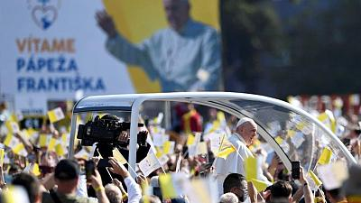 Pope, in Slovakia, says don't exploit religion for politics
