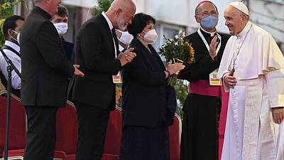 Pope calls out prejudice as he meets Roma in Slovakia