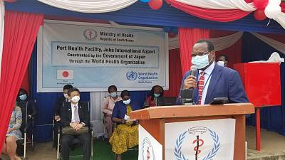 WHO and the Government of Japan establish a port health facility at Juba International Airport to enhance public health security in South Sudan