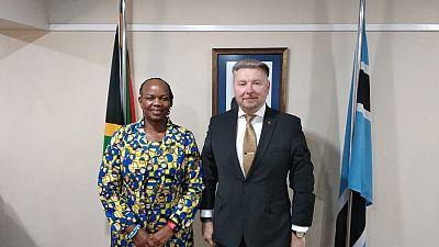 Ambassador A.Sidoruk meets Ambassador of the Republic of Botswana