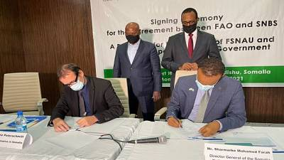 The Somalia National Bureau of Statistics and FAO sign Landmark Agreement on the Transfer of National Data Collection and Analysis Functions