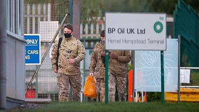 British military arrive at refinery amid fuel crisis - Reuters reporter