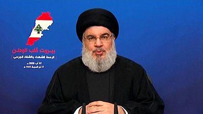 نصر الله يقول المحقق الرئيسي في انفجار بيروت مسيس ويجب تغييره