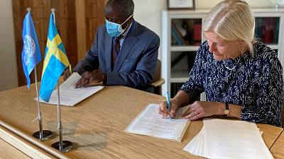 The Government of Sweden and UNDP sign agreement to promote socio-economic development and peacebuilding in Africa's borderlands