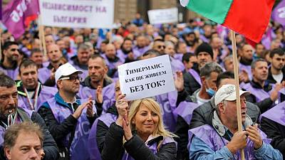 Green energy 'cannot happen now': Miners march to protect coal industry in Bulgaria