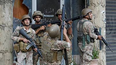 الجيش اللبناني يقول إنه أوقف تسعة أشخاص بعد أحداث العنف فى بيروت