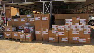 La Lutte Contre la Pandemie a Coronavirus : Le Burkina Faso reçoit trois (03) ambulances médicalisées, du matériel médical et des médicaments